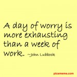 OCD worry is exhausting